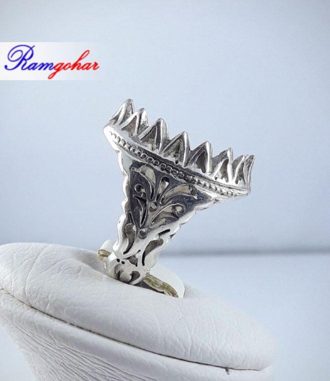 رکاب انگشتر نقره مناسب برای انگشتر مردانه عقیق فیروزه و ... 9011 2