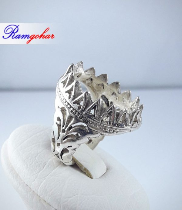رکاب انگشتر نقره مناسب برای انگشتر مردانه عقیق فیروزه و ... 9011