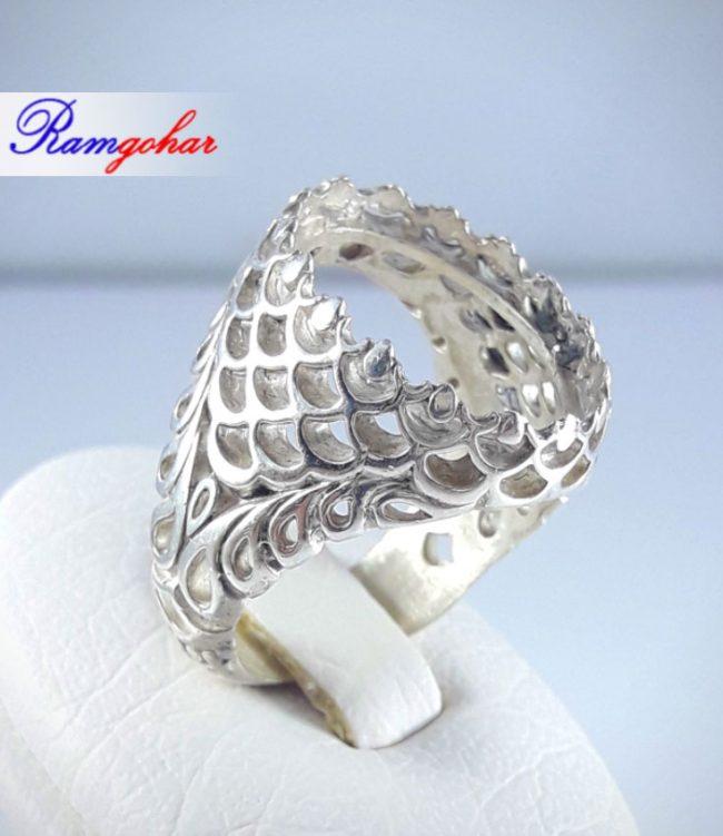 رکاب انگشتر نقره مناسب برای انگشتر مردانه عقیق فیروزه و ... 9041